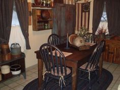 PRIMITIVE COUNTRY DINING ROOM | home decor - Compost Rules.