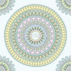 Abstract Indian pattern. Vector illustration. by bellenixe - Imagen vectorial