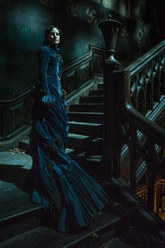 The first image of Jessica Chastain in Guillermo del Toro's Crimson Peak, now in high-resolution.