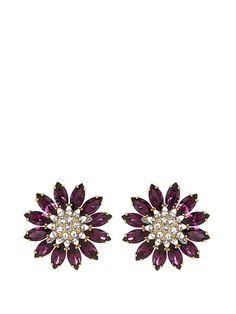 Miu Miu Flower crystal-embellished earrings