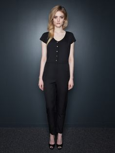 Like the Edie Romper, the Sydney Jumpsuit is all about moving comfortably. You won't have to worry about sacrificing a sexy outfit for a healthy bike commute to work. With its body-skimming fit and tapered legs, you can show off your shape without any gear trouble. Slight elastic gathering cinches in the natural waistline, providing a slimming silhouette and legs for miles. And, of course, we didn't forget the best part: It has pockets.