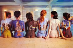 Pink Floyd - Artwork and photo used to promote their albums being available on CD: Atom Heart Mother, Relics, The Dark Side of the Moon, Wish You Were Here, The Wall, Animals.