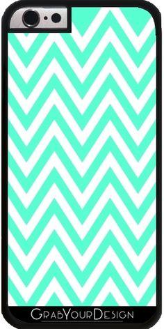 72eeff8dd7c GrabYourDesign - Coque pour Iphone 6/6S Mint Green ZigZag Pattern - by  Djuranne