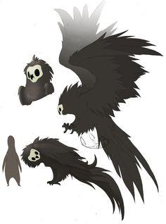 Howl by L-I-J on DeviantArt - Heimlicher Beobachter - Mythical Creatures Art, Mythological Creatures, Magical Creatures, Cute Fantasy Creatures, Creature Drawings, Animal Drawings, Cool Drawings, Fantasy Wesen, Fantasy Beasts