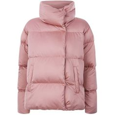 Weekend Max Mara Caio Quilted Puffer Jacket (15.075 RUB) ❤ liked on Polyvore featuring outerwear, jackets, coats, jakne, pink, boyfriend jacket, pink quilted jacket, tailored jacket, funnel neck jacket and lightweight quilted jacket