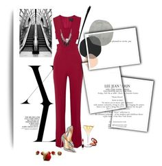 """""""Untitled #1331"""" by lindagama ❤ liked on Polyvore featuring Cushnie Et Ochs, Christian Louboutin and 1928"""
