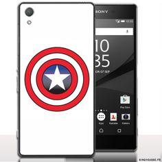 Coque Sony Xperia z5 CapTain America. #CapAmerica #SonyXperia #Z5 #Coque #etui