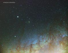 On instagram by vini_januario #astrophotography #contratahotel (o) http://ift.tt/2dNrTKJ Saturno Antares e Via Lactea.  O motivo da captura desse local foi através de uma astrofotografia do Carlos Fairbairn que mostra detalhes muito bonitos e que eu desconhecia como a nebulosa Cabeça de Cavalo azul. Quero testar meu setup e meu conhecimento ver o máximo de retorno que ele e eu podemos ter e essa é uma boa oportunidade para isso. A imagem é origem de uma tomada ontem a noite de 67 Light…