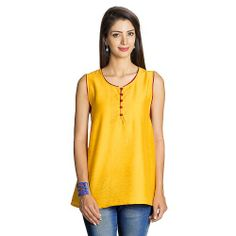 MOHR Women's Sleeveless Tunic Shirt - Light and clean with a pop of color, our sleeveless tunic will soon be your go to piece for every occasion.