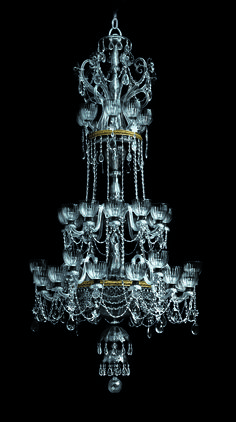 This luminary, decorated with simple cuts and glass stems and flowers, is well known for its chalice-shaped glass bowl symbolizing hospitality. #Jizera #TimelessHeritageCatalogue #Chandelier #LightingDesign #BohemianCrystal