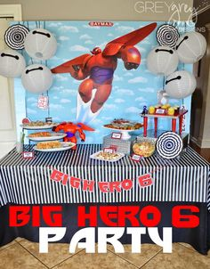 Brittany S's Playdate / - Big Hero 6 Party and Playdate at Catch My Party 2nd Birthday Party Themes, Boy Birthday, Birthday Ideas, Big Hero 6 Party Ideas, Big Heroes, Ludo, Big Hero 6 Baymax, Party Planning, Bay Max