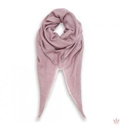 An extremely light and soft modal & wool blend for a plain rose classic scarf with fringed bottom edges. Luxury high quality shawl made in Italy by Fulards free shipping.