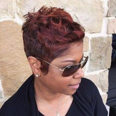 You will be surprised, but short haircuts and hairstyles for black women are not limited to just few options. We have 60 cute ideas for you and your perfect locks. Check these short black hairstyles and get inspired! Short Sassy Hair, Girl Short Hair, Short Hair Cuts, Pixie Cuts, Short Pixie, Short Haircut Styles, Short Hairstyles For Women, Short Styles, Mohawk Styles