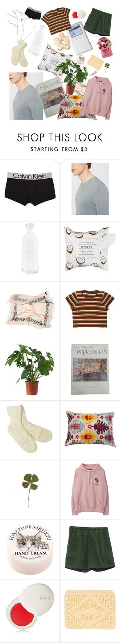"""""""Self-care"""" by naturalincoherence ❤ liked on Polyvore featuring Calvin Klein Underwear, MANGO MAN, canvas, Sephora Collection, Dash, lilah b., Topshop, Blossom, men's fashion and menswear"""