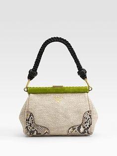 Prada - Lino Twist Frame Shoulder Bag - Saks.com - StyleSays