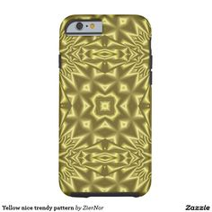 Yellow nice trendy pattern tough iPhone 6 case