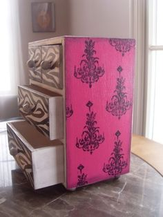Sexy Chandelier Zebra Treasure Box by DaintyCreations on Etsy