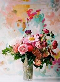 Flowers >> Wild bouquet with watercolors.