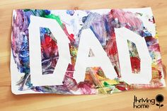 Easy Craft Idea for Toddlers: Use painters tape to make a word or shape. Then have your toddler paint all over it!