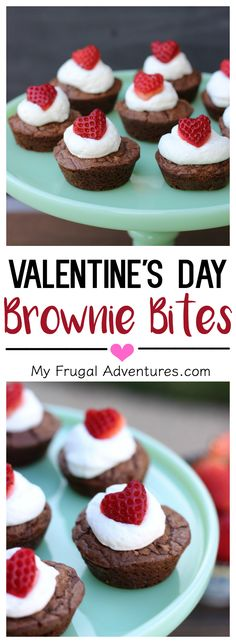 So simple and so cute!  Valentine's Day Brownie Bite recipe- perfect for parties or after school treats