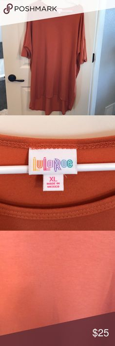 LuLaRoe Irma NWOT- Burnt Orange- very stretchy material- great with leggings LuLaRoe Tops Tunics