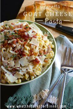 Pancetta Goat Cheese Pasta!!!