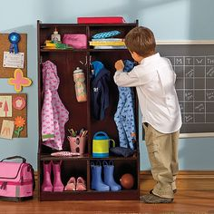 one of my favorite items on the website! A place for everything! Great for mudrooms, entry ways or home school rooms!