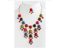 multi fall color bubble statement 25 Statement Necklaces You Can Wear Into Spring