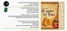 opinión-debate: Presentación en Zaragoza de la novela El juglar de...