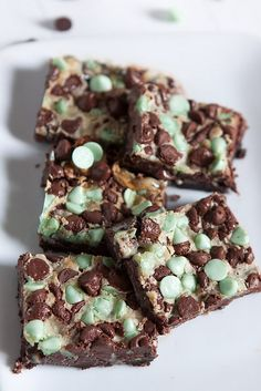 Mint Chocolate Double Delicious Cookie Bars by Back to the Cutting Board