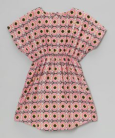 Another great find on #zulily! Pink & Green Geometric Dolman Dress - Toddler & Girls by Yo Baby #zulilyfinds