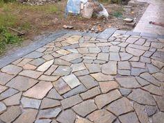Mosaico 2/4 misto pietra di luserna 2