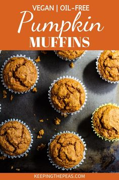 Vegan Pumpkin Muffins Easy oil-free vegan pumpkin muffins are moist, fluffy and full of fall spices. Made with healthy whole food ingredients these muffins are healthy and delicious! Pumpkin Recipes, Fall Recipes, Whole Food Recipes, Pumpkin Pumpkin, Whole Food Desserts, Pumpkin Dessert, Health Desserts, Purple Pumpkin, Pumpkin Cookies