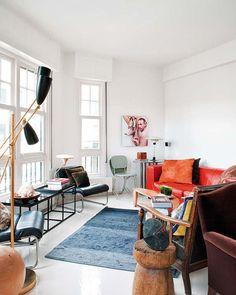 An eclectic modern apartment