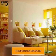 ‪#‎DIYDecor‬ Looking for a way to set the summer mood at your abode? Give your home a new look by changing cushion covers and drapes to bright colours