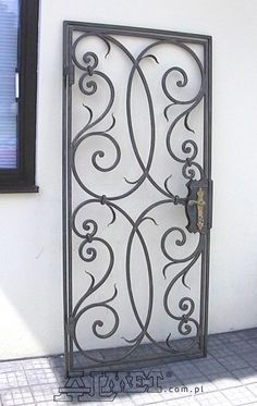 Out of all the cedar fence gate designs out there, this gorgeous, rustic wooden fence is the perfect touch as an entranceway to the garden! Fence gate ideas and design. Metal Gates, Wrought Iron Fences, Fence Design, Door Design, Grill Design, Brick Fence, Fence Gate, Horse Fence, Pallet Fence