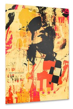 photo collage and painting by Sandrine PAGNOUX / Street art spirit >CLICK TO SHOP