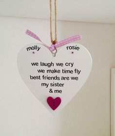 Items similar to Personalised Mum Quote Gift Plaque - Mother and Daughter Gift - Mother and Son Gift - Mum Gift - Mum Birthday Gift on Etsy Best Friend Sister Quotes, Cousin Birthday Quotes, Bff Gifts, Wooden Hearts, Make Time, Hand Lettering, Cry, Bespoke, Adhesive