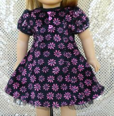 Minky Dress for American Girl or other 18 dolls by mydollyscloset1