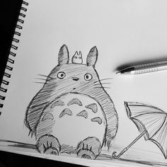❤ Japan & Kawaii ✖ Blippo ❤ Totoro i need my sister to draw this for me!!!