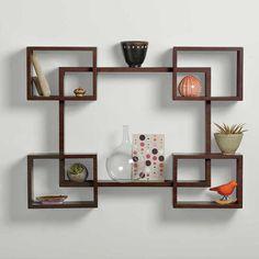 meuble bibliotheque et etagere murale cuisine ou salon en bois carré