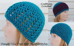 Instructions on how to design your own crochet hat. The instructions make a lot of sense, and what I've used (more luck than knowledge), so this should be a huge help.