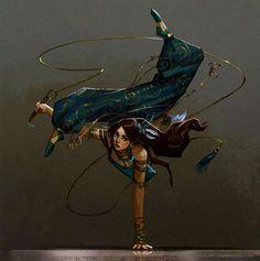 (Not my art; Gera-Whymplerian dancer) ArtStation - May Sketch A Day 2017 Week Sam Hogg Fantasy Character Design, Character Creation, Character Design Inspiration, Character Concept, Character Art, Concept Art, Dnd Characters, Fantasy Characters, Female Characters