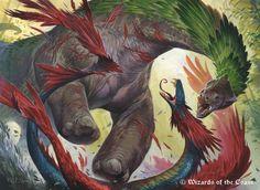 Savage Stomp for Magic the Gathering - Ixalan by Wayne Reynolds