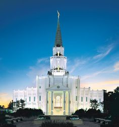 Houston Texas Temple of The Church of Jesus Christ of Latter-day Saints. #LDS #Mormons