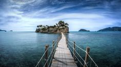 Zakynthos, a bridge to the island by Dmitry Laudin on Zakynthos Greece, Paperless Post, South America, Worlds Largest, Places Ive Been, Cool Photos, Scenery, Around The Worlds, Clouds