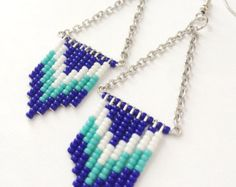Purple Teal and Turquoise Ombre Beaded by OliveTreeHandmade