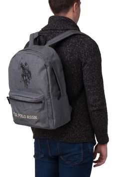 Bags · U.S. POLO ASSN. Backpack Logo Emblems Front Pocket Zipped Two Strap  BAG044  fashion   c4cc1eef795ba