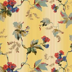 from abstract and Art Deco to floral, a broad sampling of the decade from our archives. Floral Print Wallpaper, Floral Prints, Beautiful Pink Roses, Floral Area Rugs, Botanical Flowers, Aesthetic Art, Pattern Art, Textile Design, Flower Art