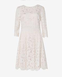 Lace skater dress - Light Pink | Dresses | Ted Baker ROW
